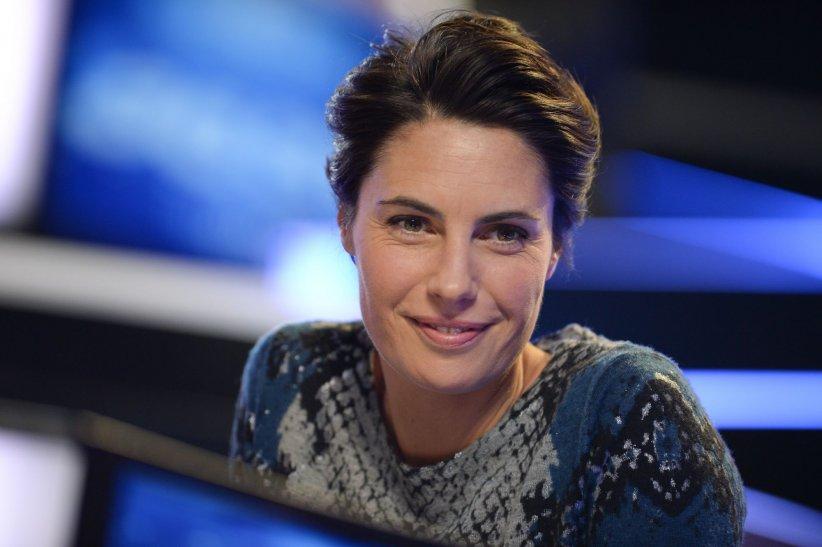 Alessandra Sublet participe au Telethon, à Paris, en décembre 2014.