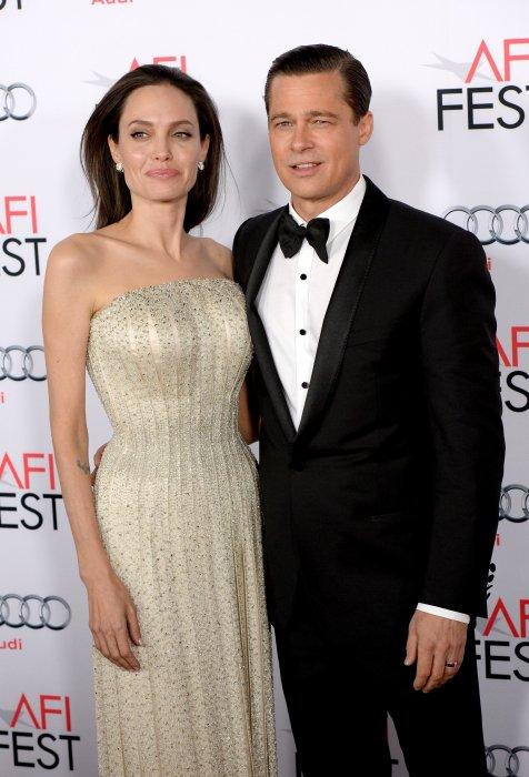 Angelina Jolie et Brad Pitt lors de l\