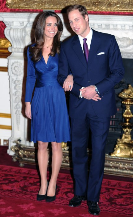Kate Middleton et le prince William annoncent leurs fiançailles à St James Palace à Londres, le 16 novembre 2016.