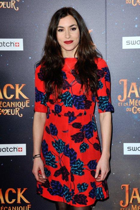 """Olivia Ruiz lors de la première de """"La Mécanique du Coeur"""" à Paris, le 26 janvier 2014."""