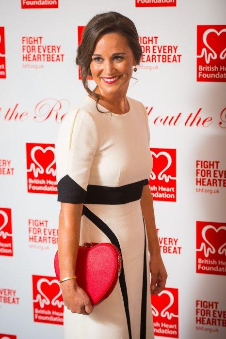 Pippa Middleton, à la British Heart Foundation: Roll Out The Red Ball à Londres, le 11 février 2016.