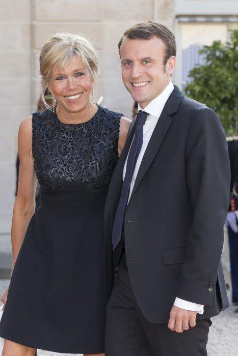 Emmanuel Macron et sa femme, Brigitte Trogneux, à l\