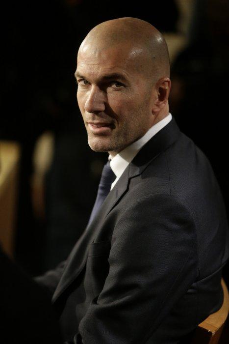 Conférence de presse de Zinédine Zidane au lendemain de sa nomination comme entraîneur du Real de Madrid, le 5 janvier 2015.