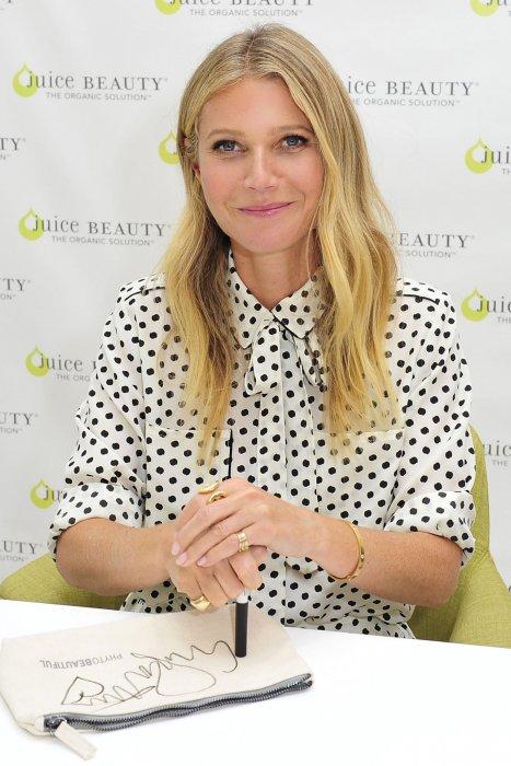 Gwyneth Paltrow parle de sa ligne de beauté naturelle Juice Beauty à Los Angeles, le 7 septembre 2016.