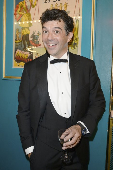 Stéphane Plaza assiste à la 28e Nuit des Molières au théâtre des Folies Bergère à Paris, le 23 mai 2016.
