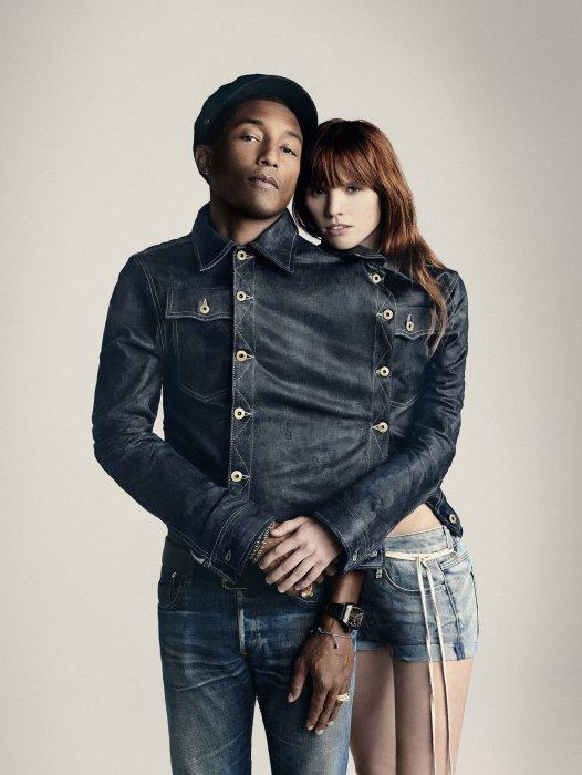 Pharrell Williams prend la pose pour annoncer son arrivée chez G-Star.