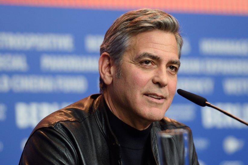 George Clooney, en conférence de presse pour le film  Avé César , en marge de la Berlinale, le 11 février 2016.