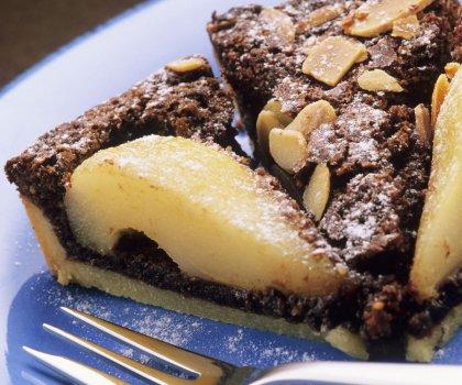 Tarte amandine poire chocolat