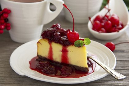 Cheesecake coulis aux cerises