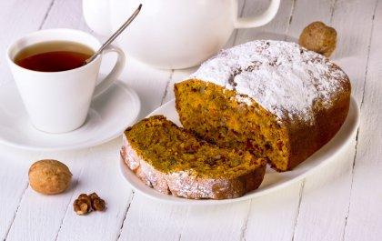 Bread cake au potiron, raisins et noix