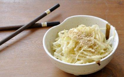 Salade de chou blanc sucrée-salée