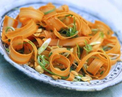 Tagliatelles de carottes en salade