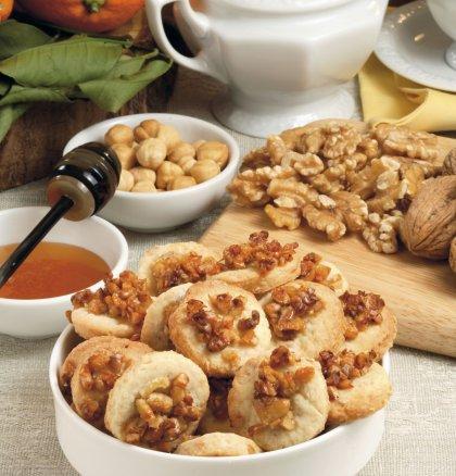 Sablés d'automne noix et noisettes