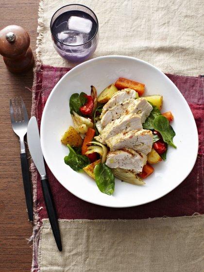 Filet de poulet aux petits légumes