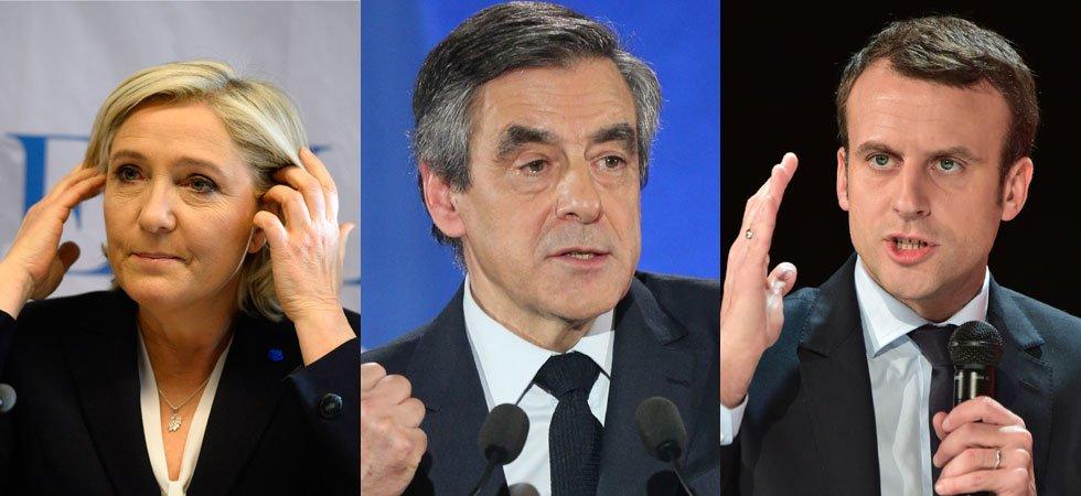 Présidentielle : Fillon derrière Le Pen et Macron avec ou sans Bayrou (sondage BVA pour Orange)