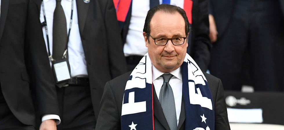 VIDEO. France-Allemagne : François Hollande bouscule Noël Le Graët après le but de Griezmann