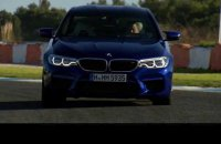The BMW M5 on the  Race Track in Estoril