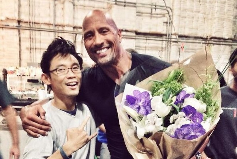 James Wan et Dwayne Johnson