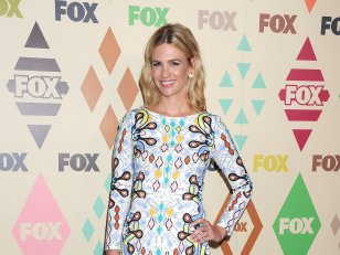 January Jones, superbe en robe colorée Peter Pilotto