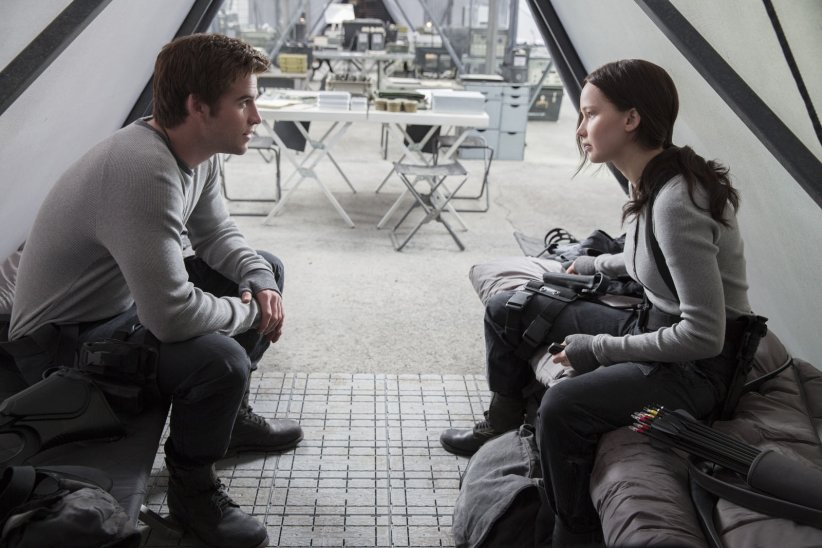 Jennifer Lawrence et Liam Hemsworth dans la saga Hunger Games
