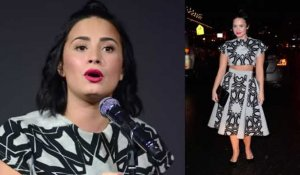 Demi Lovato fait une apparition au magasin Apple de SoHo