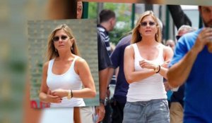Jennifer Aniston sans maquillage se transforme sur le plateau de son nouveau film
