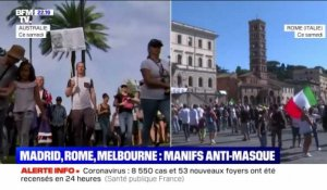 Madrid, Rome, Melbourne: manifestations anti-masque - 05/09