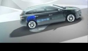Volvo V60 Plug In Hybrid, Electric All Wheel Drive animation