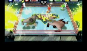 Rayman Raving Rabbids TV Party - Wrestling Video