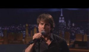 Tom Cruise chante en playback chez Jimmy Fallon