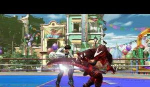 The King of Fighters XIV - Maxima, Clark, Terry et le King of Dinosaurs
