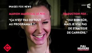 Le zapping du 24/02 : La traduction surréaliste d'une interview de Marion Maréchal-Le Pen par la Fox