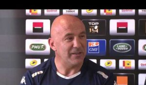 Top14 - Racing92, conférence de L. Travers