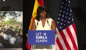 "Madrid: Michelle Obama présente son initiative ""Let Girls learn"""