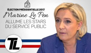 Marine Le Pen dézingue Laurent Ruquier et Michel Drucker