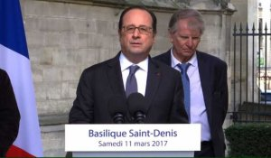 Visite symbolique de Hollande à Saint-Denis