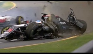 F1 : L'incroyable crash de Fernando Alonso - ZAPPING AUTO DU 21/03/2015