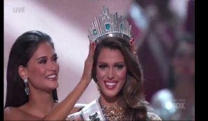 Iris Mittenaere, Miss France 2016, remporte la couronne de Miss Univers