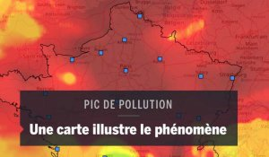 Le pic de pollution illustré par des cartes du nuage de particules fines
