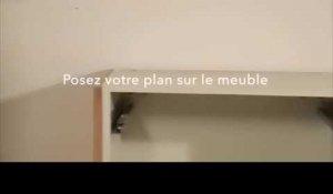 plan de travail cuisine, pose évier et robinet sur orange vidéos - Poser Un Plan De Travail De Cuisine