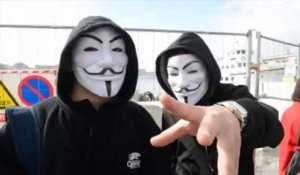 Les Anonymous manifestent contre Indect