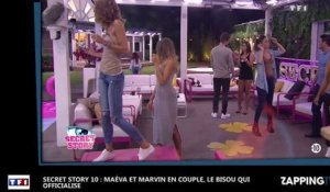 Secret Story 10 : Maéva et Marvin en couple, le bisou qui officialise