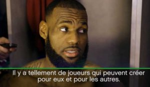 Cavs - LeBron admiratif de l'effectif des Warriors