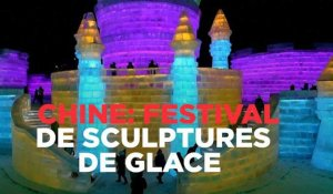 Chine : lancement du festival de sculptures de glace
