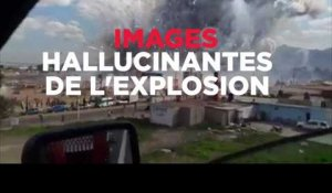 Images hallucinantes de l'explosion des feux d'artifices au Mexique