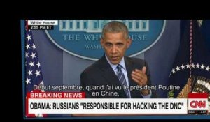 Cyberattaques : Barack Obama accuse Vladimir Poutine et le menace