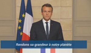 """Make our planet great again"". Quand Macron défie Trump en anglais"