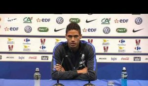 Equipe de France – Varane veut s'imposer comme titulaire indiscutable