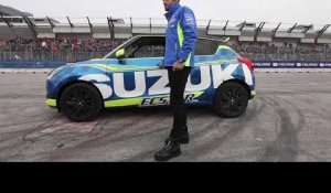 Andrea Iannone on track with Suzuki SWIFT