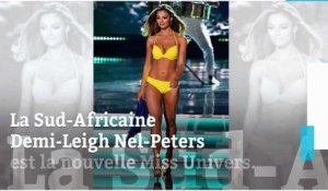 La très sexy Sud-Africaine Demi-Leigh Nel-Peters émue Miss Univers
